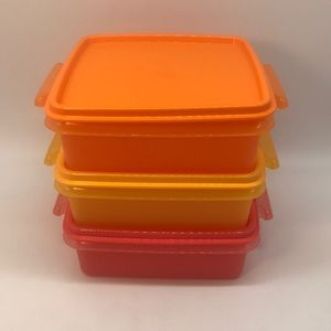 Tupperware Quarter Container Set  of 3
